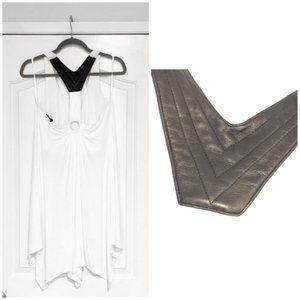 Sky Handkerchief Hem Dress Large